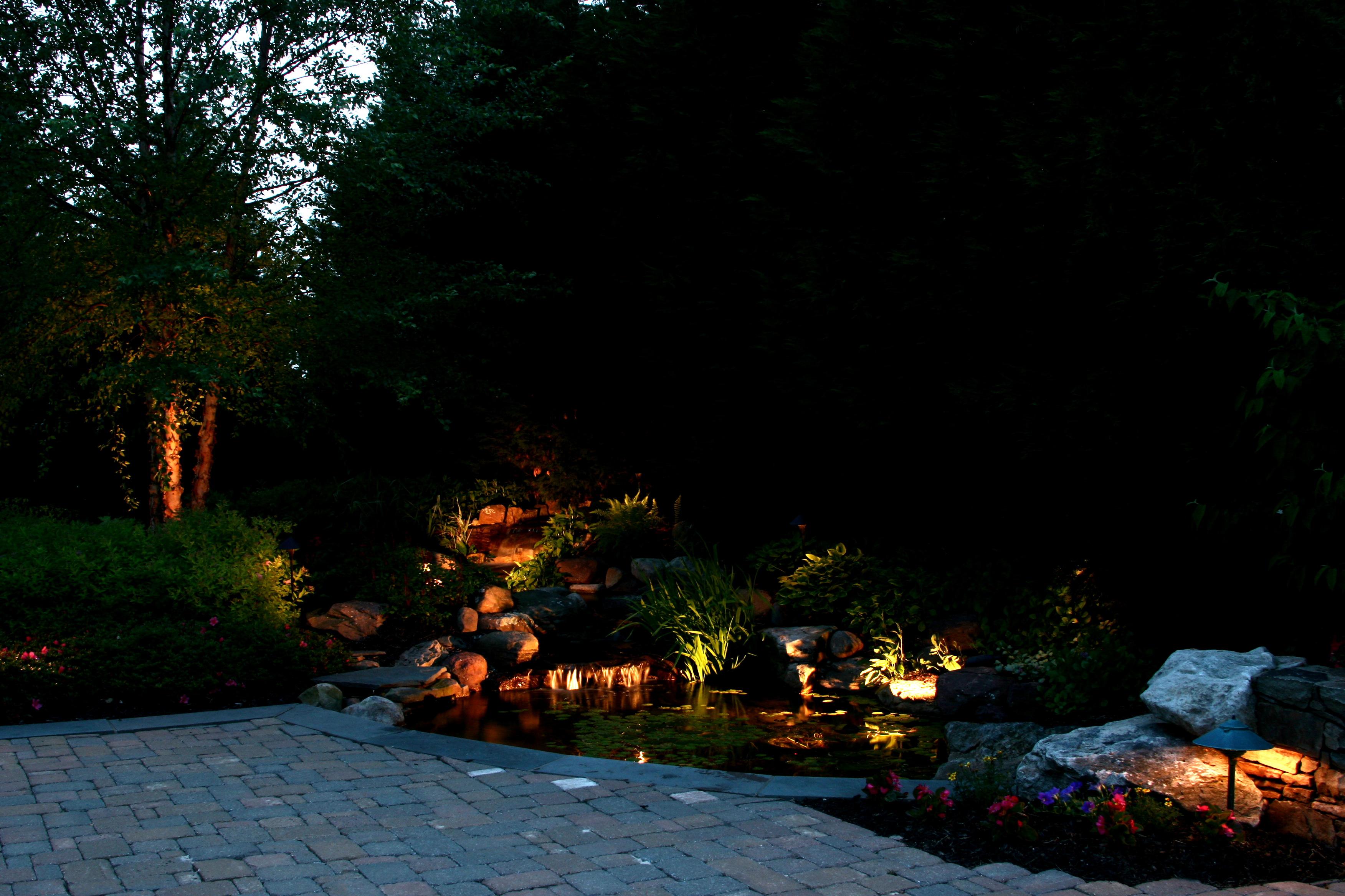 residential landscape lighting in md and va r t mackenzie